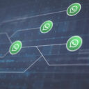 Whatsapp Icon Line Connection of Circuit Board